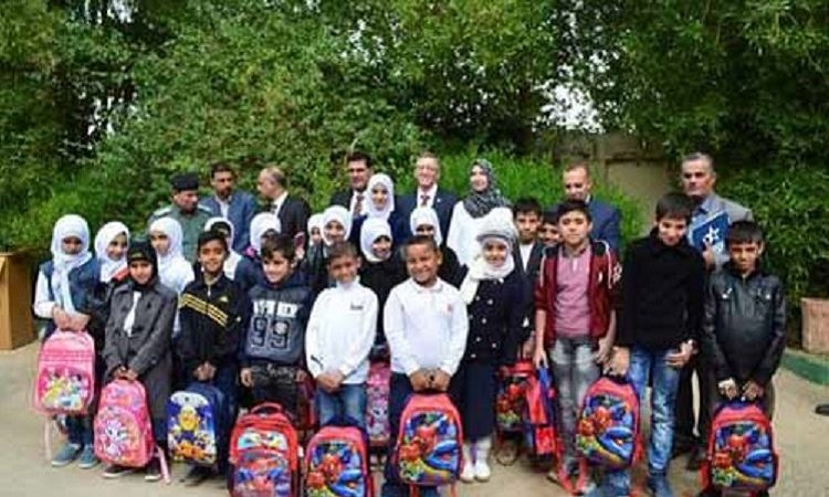 Consul General Dayton Donates Backpacks During Visit to Maysan