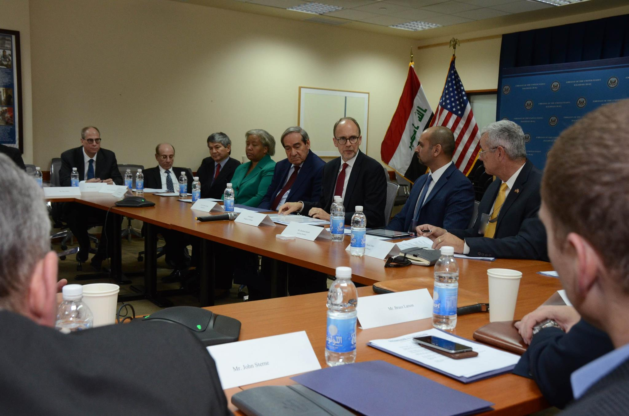 Ambassador silliman 39 s meeting with members of the american for American chambre of commerce