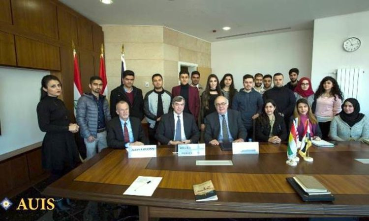 The staff of the American University of Iraq in Sulaimania
