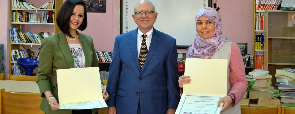 Regional English Language Officer meets with the Embassy program graduates
