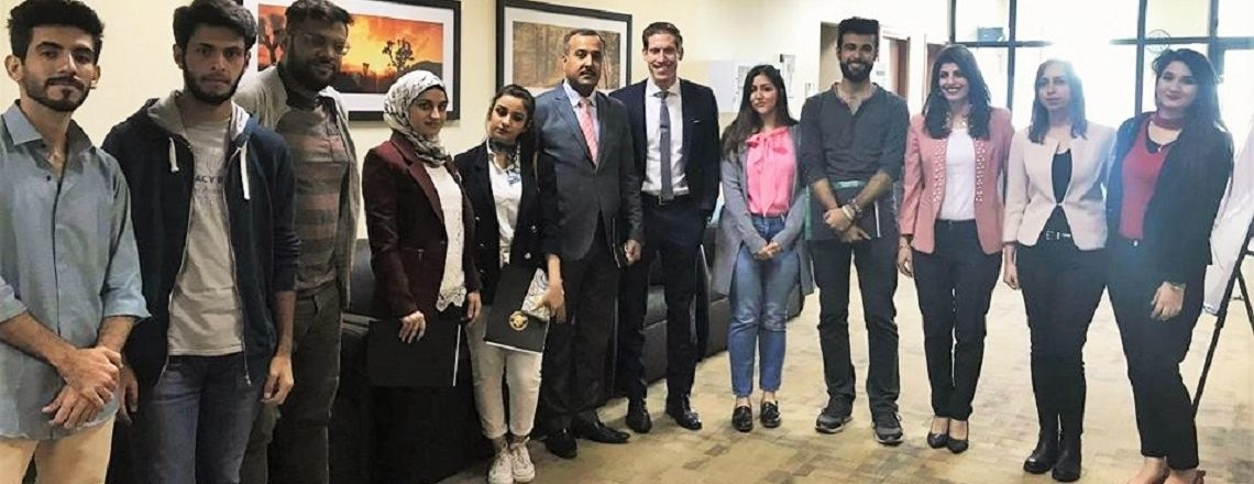 Department of State's Special Advisor for Global Youth Issues Andy Rabens meets